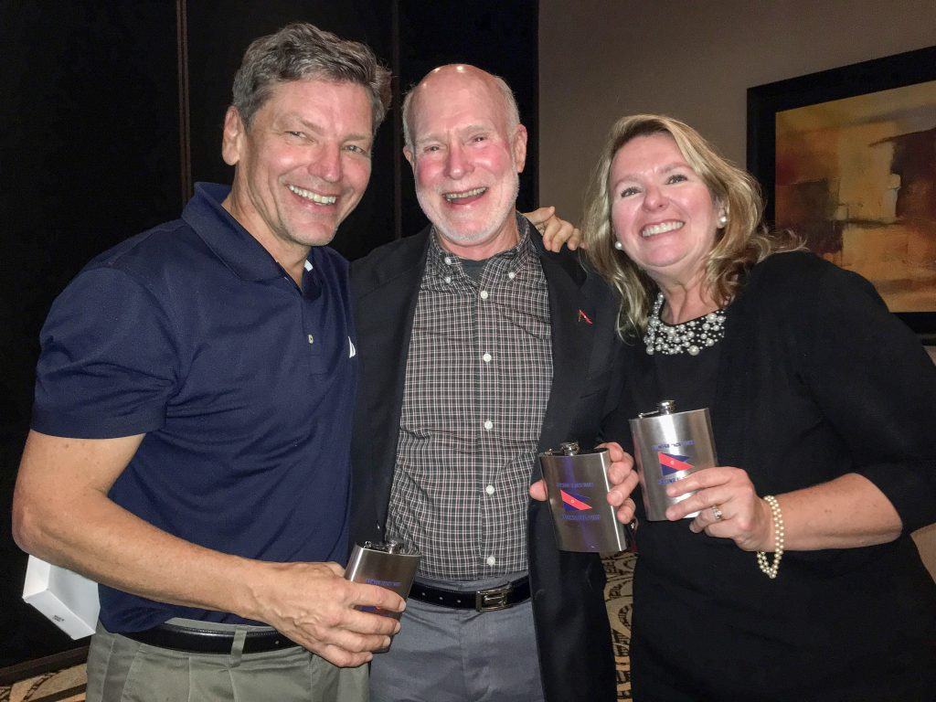 The Wednesday Race Committee: Steve, Al and Allison